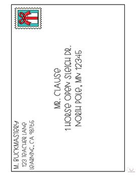 Letter Writing + Envelope Addressing - Holiday Edition
