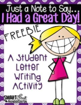 Letter Writing Freebie