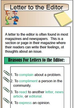 Letter Writing - Friendly Letter, Business, Letter to Editor Powerpoint