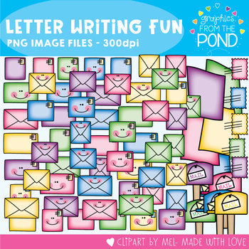 Letter Writing Fun - Clipart for Teachers