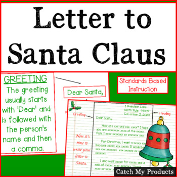 Writing Process : Letter Writing to Santa at Christmas Promethean Board