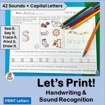 Handwriting Practice for Kindergarten & 1st Grade supporting Systematic Phonics