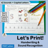 Handwriting Practice for K & 1st Grade links Jolly Phonics  | Distance Learning