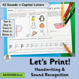 Handwriting Practice for Kindergarten & 1st supports Jolly Phonics |SASSOON Font