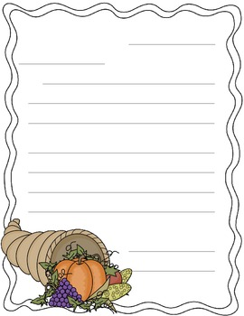 Letter Writing - I am thankful for...