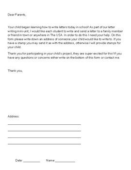 Letter Writing Mini Unit (Editable)