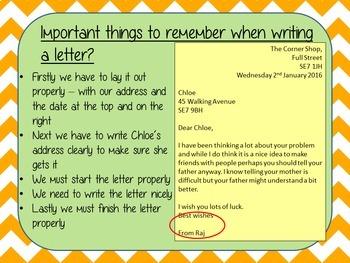 Letter Writing – Mr Stink