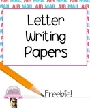 Letter Writing Pages FREEBIE