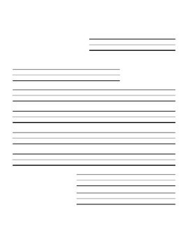 Letter Writing Paper Template, Differentiated Versions for Early Grades
