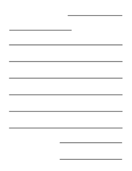 Letter Writing Paper Template, Differentiated Versions for