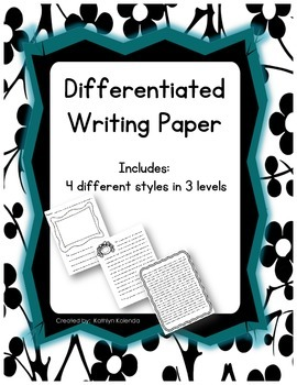 Letter Writing Paper - Differentiated K-4