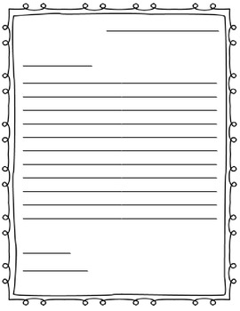 Letter Writing Paper Friendly Letter By Jenny Adkins Tpt