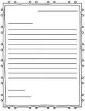 Letter Writing Paper (Friendly Letter)