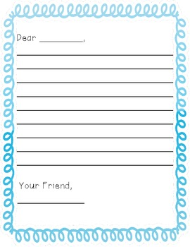 Letter Writing Paper-Swirl Borders