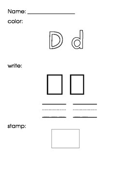 Letter Writing Practice Activity