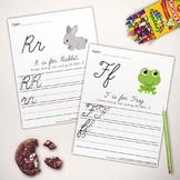 Letter & Writing Practice Book Cursive - Printable Worksheets