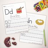 Letter & Writing Practice Book Print - Printable Worksheets