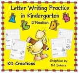 Letter Writing Practice in Kindergarten  *D'Nealian*