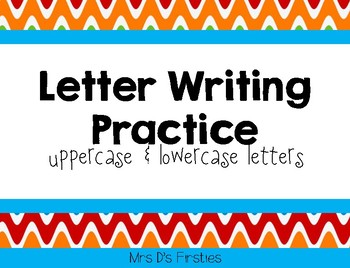 Letter Writing Practice Pages