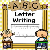 Letter Writing Practice Pages for Toddler, Preschool or Kindergarten