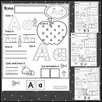Letter Writing Practice Pages for Toddler, Preschool or Kindergarten