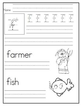 Letter Writing Practice in Kindergarten  *Traditional*