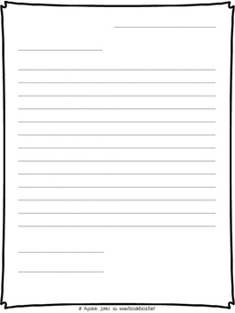 Letter Writing Printable Template