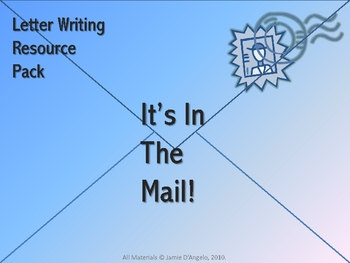 Letter Writing Resource Pack