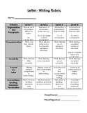 Letter Writing Rubric
