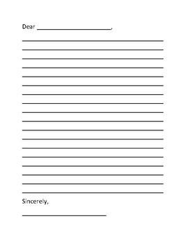 Letter Writing Sheet