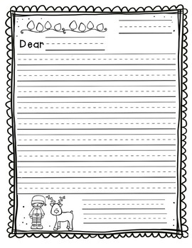 Letter Writing Template (Christmas)