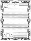 Letter Writing Template (Halloween Theme)