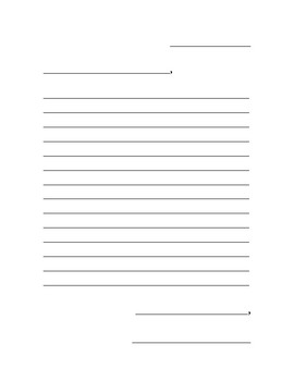 Letter Writing Template and Envelope Combo