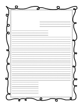 Letter Writing Template with primary lines