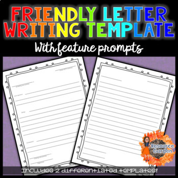 Friendly Letter Templates Graphic Organizer By Nicole Maizelis Tpt