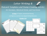 Letter Writing Templates and Stamp Making Common Core
