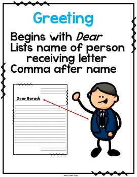 Letter Writing Unit: Dear Mr. President SMART Board with Printable Bundle