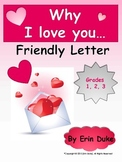 Valentine's Day Letter Writing--Why I Love You!