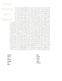 Letter Writing Word Search
