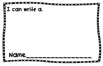 Letter Writing and Beginning Sound Sheets