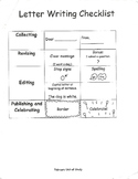 Letter Writing checklist