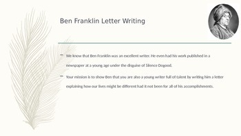 Letter Writing to Ben Franklin