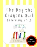 The Day the Crayons Quit--letter writing unit