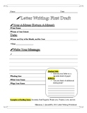 Letter Writting Worksheet: First Draft