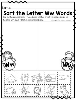 Letter Ww Activity Pack