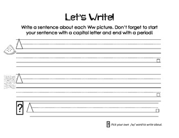 Letter Ww Activity Packet