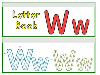 Letter Ww Binder Book
