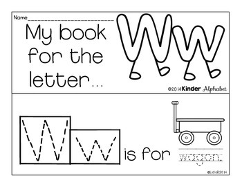 Letter Ww Booklet- Predictable Sentences