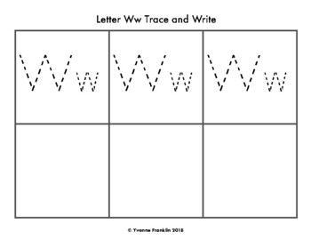 Letter Ww Color, Trace & Write the Room
