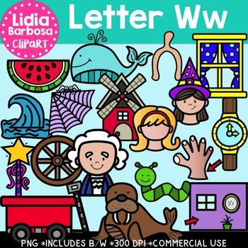 Letter Ww Digital Clipart
